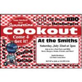 Lets Cook Out Personalized Invitations