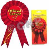 "Official Carver 6 1/2"" Ribbon"