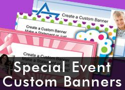 Special Event Custom Photo Banners