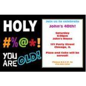 Holy Bleep Birthday Personalized Invitations