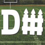 Football D-Fence Cutout