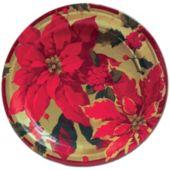 """Poinsettia Elegance 10"""" Dinner Plates"""