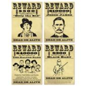 Western Wanted Signs-4 Per Unit