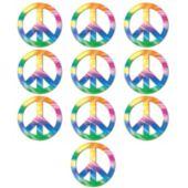 Peace Sign Mini Cutouts-10 Pack
