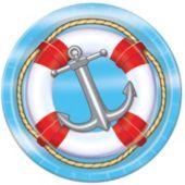 "Nautical 9"" Plates - 8 Pack"