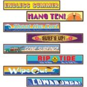 Surfer Street Sign Cutouts-4 Pack