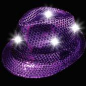 Purple LED and Light-Up Sequin Fedora