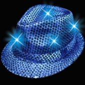 Blue LED and Light-Up Sequin Fedora