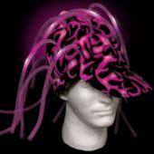 Pink Light Up Noodle Cap