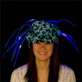 Blue LED and Light-Up Noodle Cap