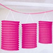 Pink Lantern Garland Decoration