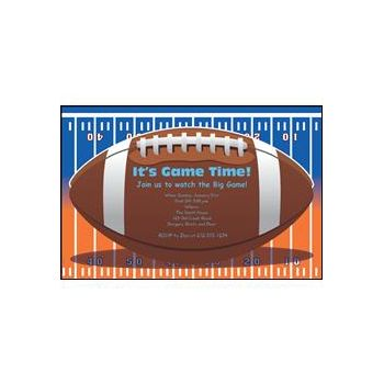 Football Orange Blue