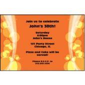 Sparkling Orange Circles Personalized Invitations