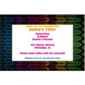 Funky Stripes Personalized Invitations