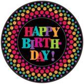 "Birthday Dot 10 1/2"" Plates - 8 Pack"
