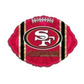 "San Francisco 49ers Football Metallic 18"" Balloon"