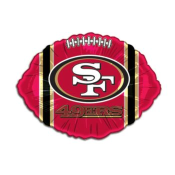 San Francisco 49er's Football Metallic Balloon -18 Inch