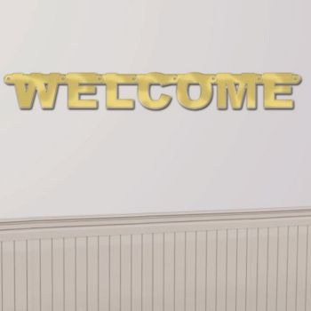 Gold Welcome Banner