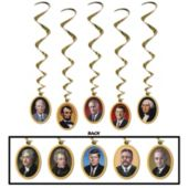 Presidential Whirl Decorations-5 Pack