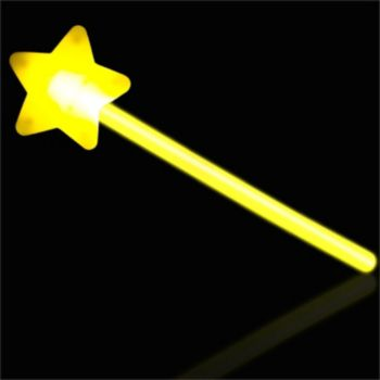 Yellow Star Glow Wand