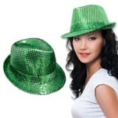Green Sequin Fedora