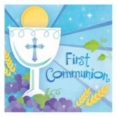 Blue First Communion Lunch Napkins - 16 Pack