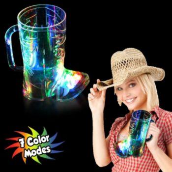 Multi-Color LED Boot Shape Cup - 16 Oz.