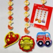 Firefighter Dangler Decorations-3 Pack