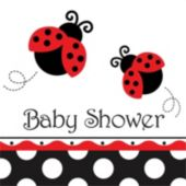 Ladybug Baby Shower Lunch Napkin - 16 Pack