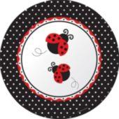 """Ladybug 10 1/4"""" Plate - 8 Pack"""