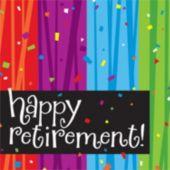 Rainbow Celebration Retirement Lunch Napkins - 16 Pack