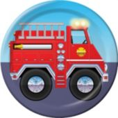 "Firefighter 7"" Plates - 8 Pack"