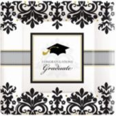 "Sophisticated Graduate 10"" Plates - 18 Pack"