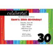 Rainbow Celebration  30 Personalized Invitations