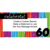 Rainbow Celebration 60 Custom Banner
