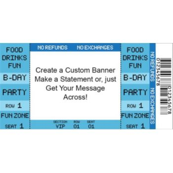 Blue Ticket Custom Banner