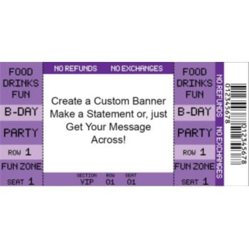 Purple Ticket Custom Banner