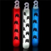 "Republican Party Glow Sticks-6""-25 Pack"