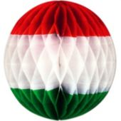 Red, White and Green Tissue Ball Decoration
