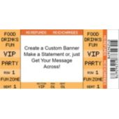 Orange Vip Ticket Custom Banner