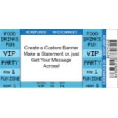 Blue Vip Ticket Custom Banner