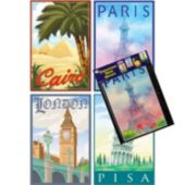 International City Cutouts-4 Pack