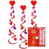 Heart Swirl Decorations-6 Pack