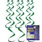 Green Twirly Whirl Decorations-6 Pack