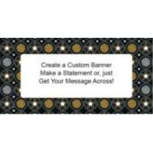 Starburst Party Custom Banner