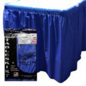 Blue Plastic Table Skirt