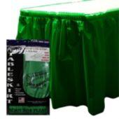 Green Plastic Table Skirt