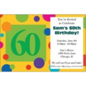 60th Birthday Dots Personalized Invitations