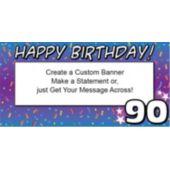 90 Happy Birthday Custom Banner