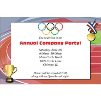 Olympic Rings Personalized Invitations